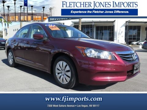Pre-Owned 2012 Honda Accord Sdn LX Front Wheel Drive 4dr Car