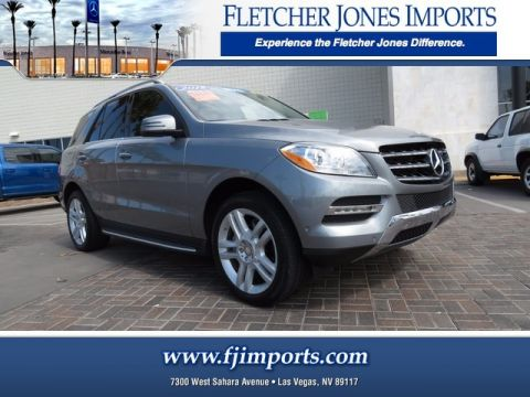 Certified Pre-Owned 2015 Mercedes-Benz ML 350 Rear Wheel Drive SUV