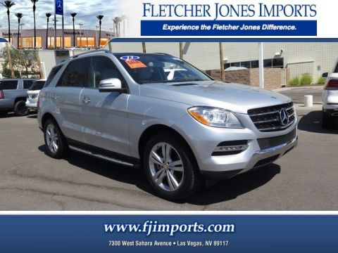 Certified Pre-Owned 2013 Mercedes-Benz ML 350 Rear Wheel Drive Sport Utility