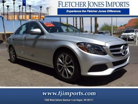 Certified Pre-Owned 2017 Mercedes-Benz C 300 Rear Wheel Drive Sedan