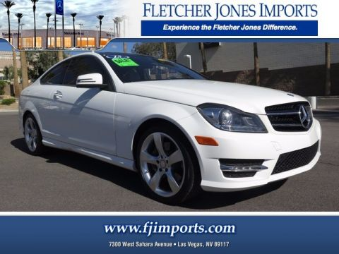 Certified Pre-Owned 2015 Mercedes-Benz C 350 Rear Wheel Drive Coupe