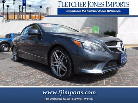 Certified Pre-Owned 2014 Mercedes-Benz E 350 Rear Wheel Drive Convertible